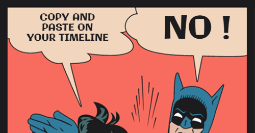 Copy and paste on your timeline - STFU Hero Meme Generator
